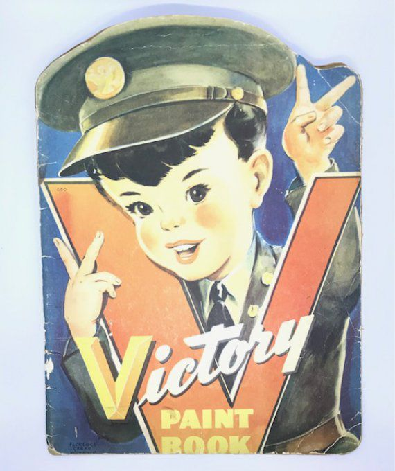 "LIVRE DE COLORIAGE ""VICTORY PAINT BOOK"" 1942"