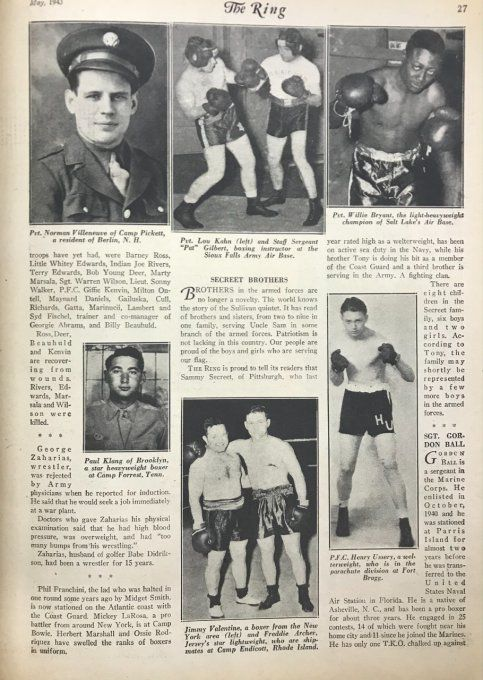 "MAGAZINE BOXE ""THE RING"" 1943"